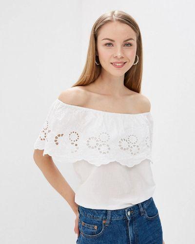 Блузка с открытыми плечами белая индийский Brave Soul