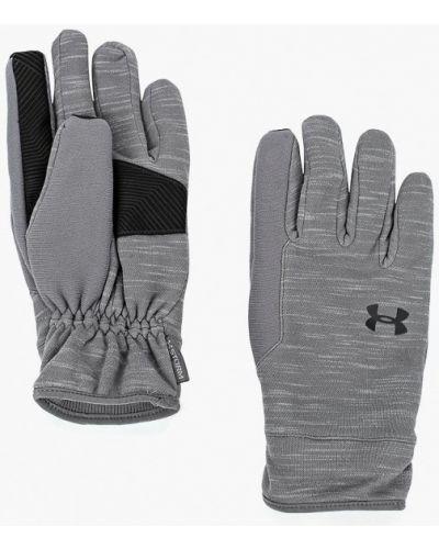 Серые перчатки текстильные Under Armour