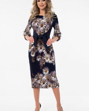 Платье с поясом платье-сарафан с вырезом Wisell