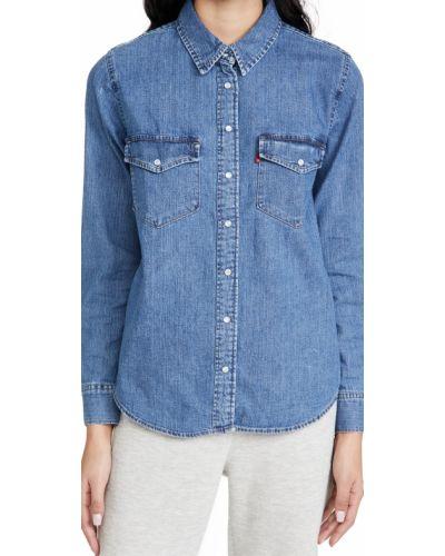 Хлопковая рубашка с воротником с манжетами Levi's®