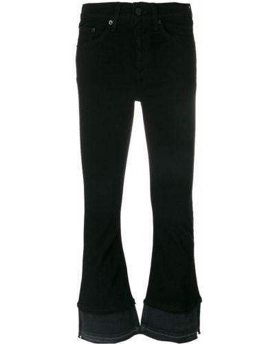 Укороченные брюки расклешенные черные Rag & Bone