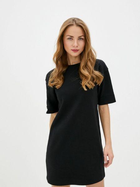 Платье платье-толстовка черное Sela