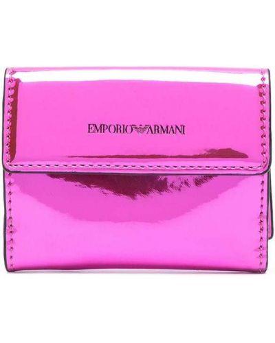 Portfel, różowy Emporio Armani