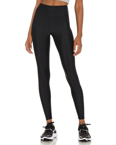 Czarne legginsy z nylonu do pracy Yummie