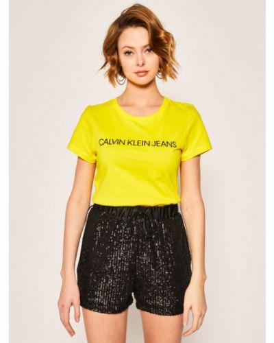 Żółty koszula jeansowa Calvin Klein Jeans