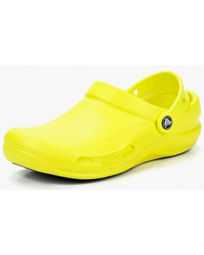 Желтые сабо Crocs