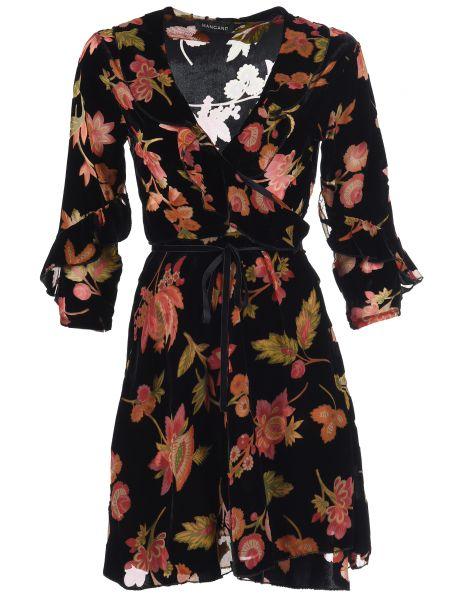 Платье из вискозы - черное Mangano