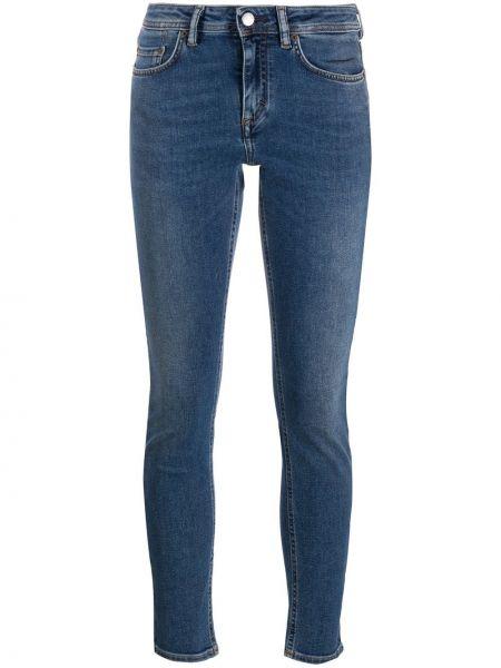 Niebieski bawełna zawężony obcisłe dżinsy z kieszeniami Acne Studios