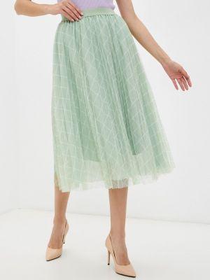 Плиссированная юбка - зеленая Softy