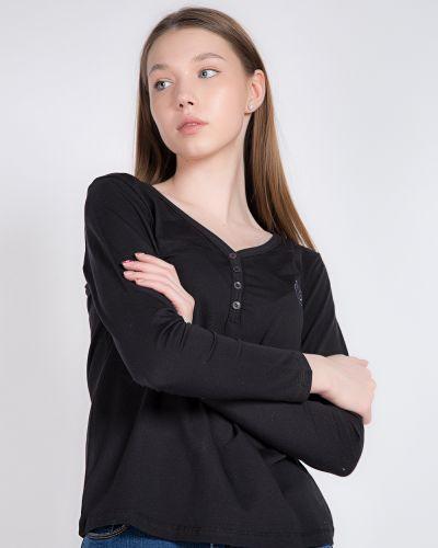 Хлопковая черная футболка Samo