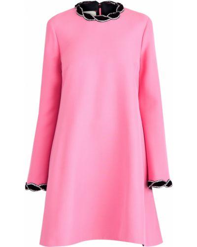 Платье мини из крепа шерстяное Gucci