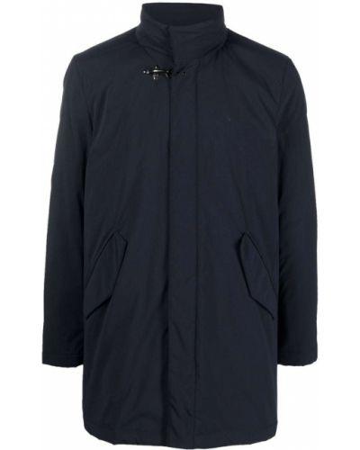Синее пальто из полиэстера Fay