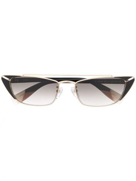 Солнцезащитные очки с логотипом - желтые Furla