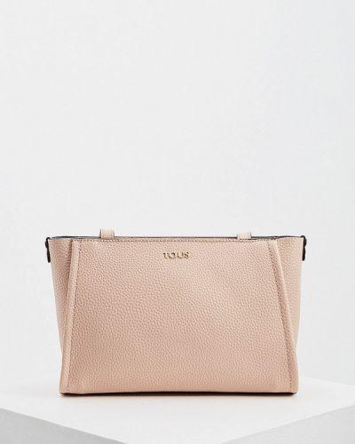 Кожаный сумка через плечо розовый Tous