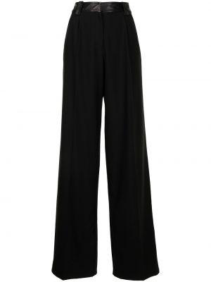 Черные шерстяные брюки с завышенной талией Christopher Esber