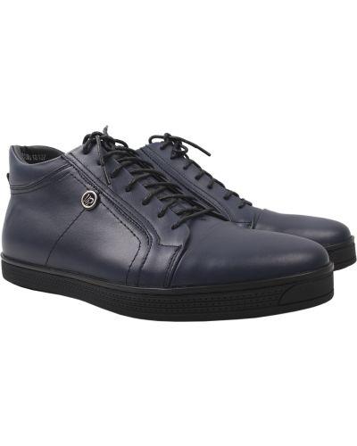 Кожаные ботинки - синие Vadrus