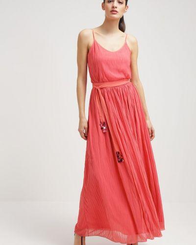 Шелковое платье макси на резинке Max&co