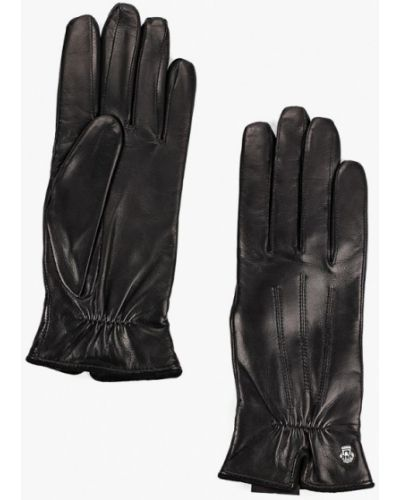Кожаные перчатки черные Roeckl