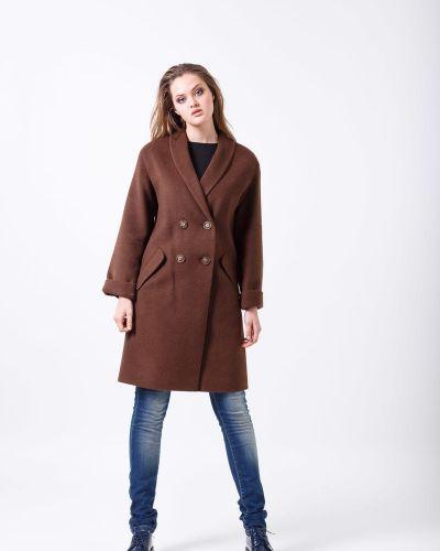 Пальто двубортное из верблюжьей шерсти Sergio Cotti