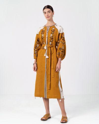 Этническое желтое платье Etnodim