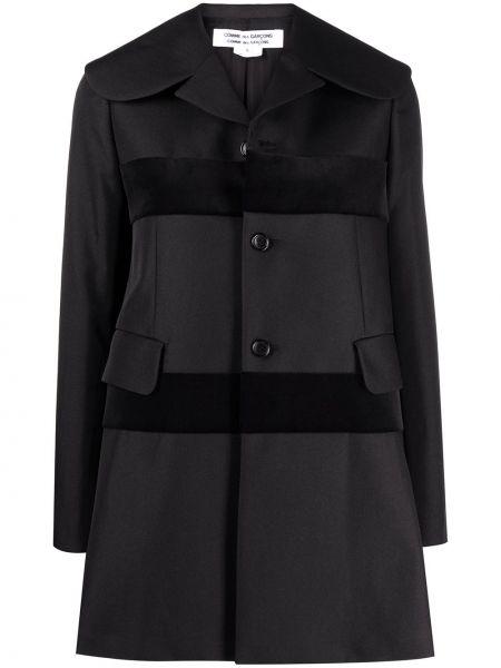 Однобортное черное длинное пальто на пуговицах Comme Des Garçons Comme Des Garçons