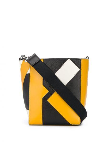 С ремешком черная кожаная сумка на плечо Kenzo