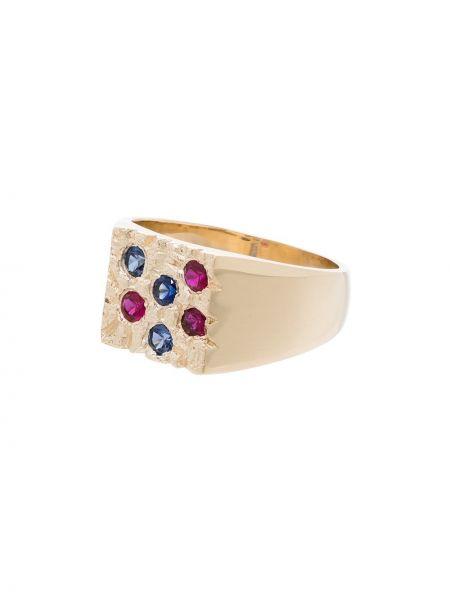 Pierścień złoto z szafirem Bleue Burnham