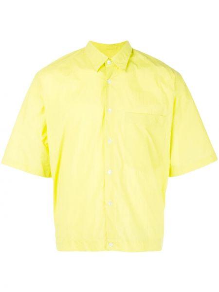 Классическая желтая рубашка с короткими рукавами на пуговицах Cmmn Swdn