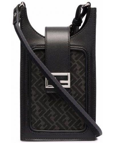 Черная хлопковая сумка Fendi