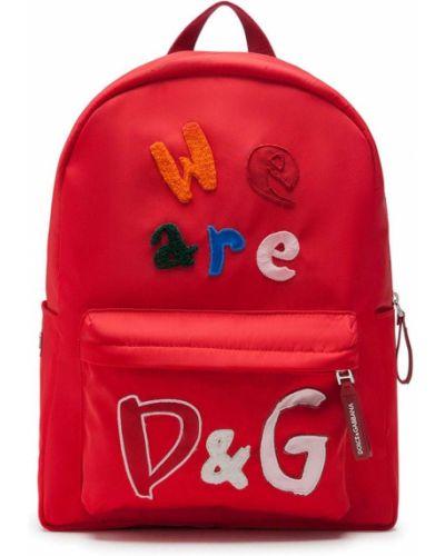 С ремешком хлопковый красный рюкзак Dolce & Gabbana Kids