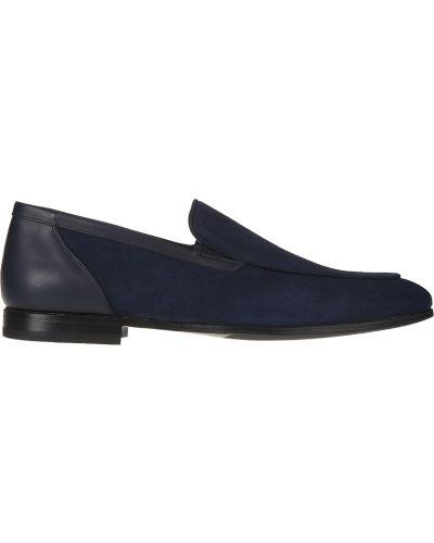 Кожаные туфли - синие Franceschetti