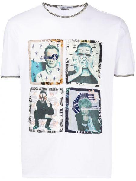 Koszula krótkie z krótkim rękawem prosto z łatami Grey Daniele Alessandrini