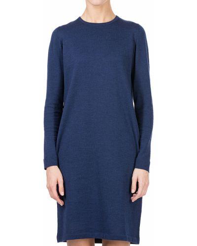 Шерстяное платье - синее Maerz