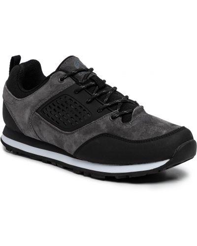 Czarne sneakersy skorzane na co dzień Elbrus