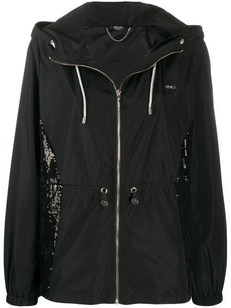 Куртка с капюшоном длинная с вышивкой Liu Jo