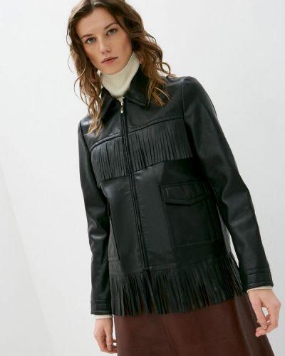 Кожаная куртка - черная Trussardi Jeans