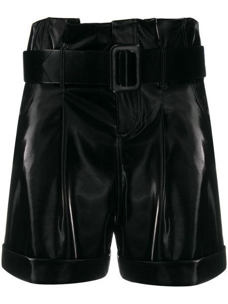 Черные шорты с отворотом с потайной застежкой Federica Tosi