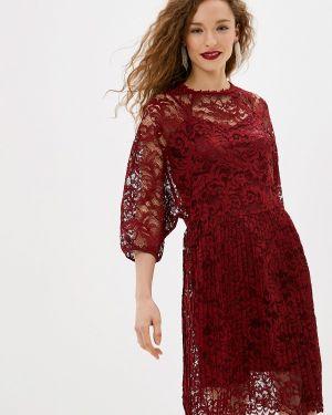 Вечернее платье бордовый красный мадам т