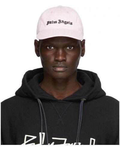 Bawełna klasyczny biały czapka z daszkiem z haftem Palm Angels