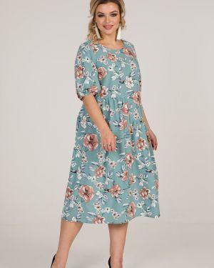 С рукавами плиссированное платье миди в стиле бохо марита
