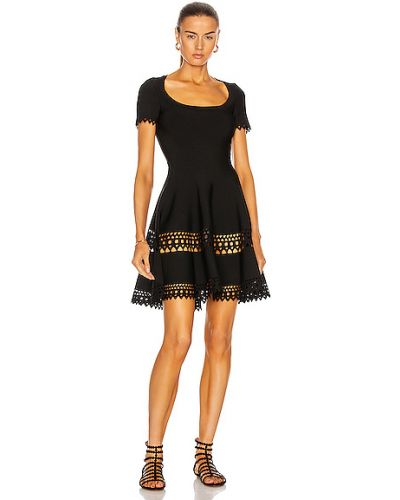 Платье из вискозы - черное Alaïa