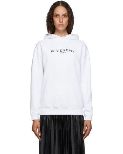 Z rękawami frotte czarny bluza z kapturem z kapturem Givenchy