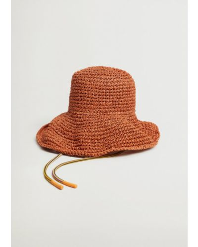 Pomarańczowy kapelusz Mango