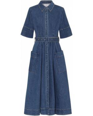 Джинсовое платье макси длинное Co