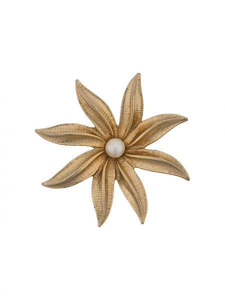 Broszka pozłacany z perłami Susan Caplan Vintage