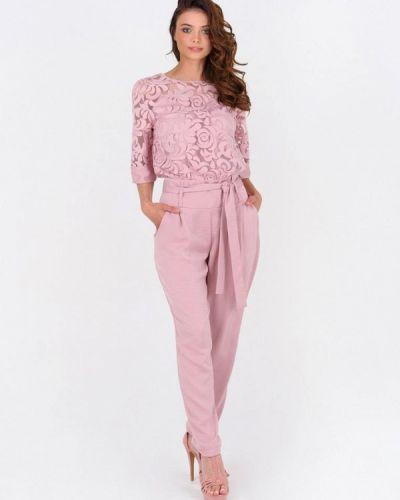 Брючный комбинезон - розовый Ricamare