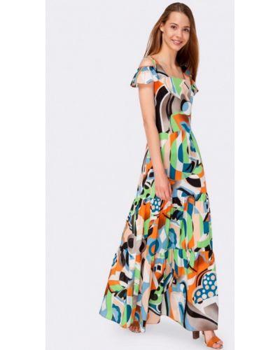 Платье весеннее Cat Orange