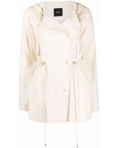 Куртка с капюшоном - белая Theory