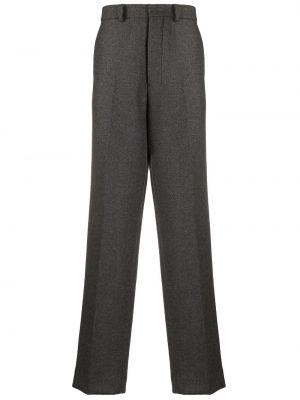 Spodnie wełniane z paskiem zapinane na guziki Ami