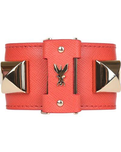 Кожаный браслет красный Patrizia Pepe